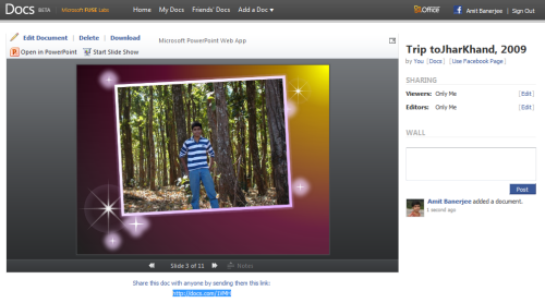 Create a Photo Slideshow from Facebook Photo albums