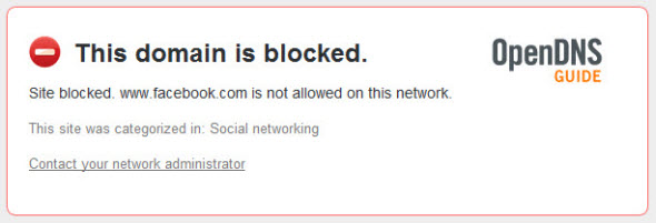 Domain Blocked
