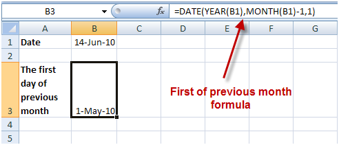 Date formulas in Excel