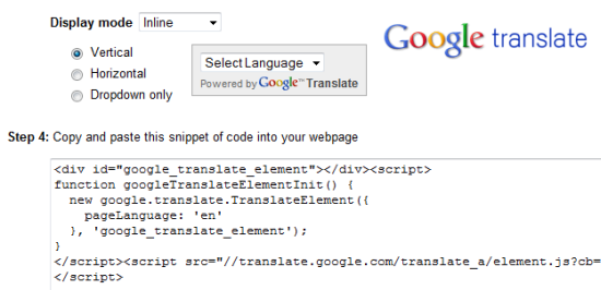 Add Google Translate laguage Translation To Website