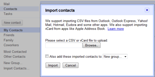 Import Facebook Contacts And Email addresses in Gmail