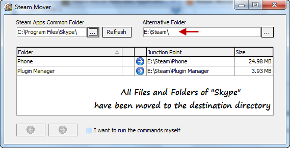 Move Installed programs to another drive without reinstallation