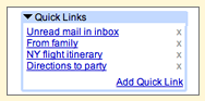 Quick Links - Gmail Labs