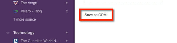 save_as_OPML_Import or Export Feedly Subscriptions to OPML