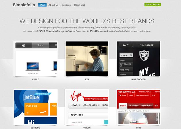 Simplefolio tumblr theme for design studios