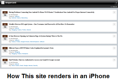 Preview website design in iPhone and iPad