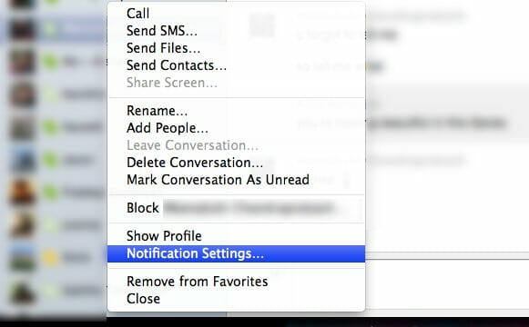 Turn Off Skype Notifications for specific users