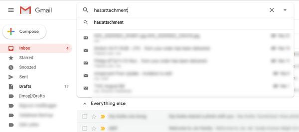 Find Emails with Attachments
