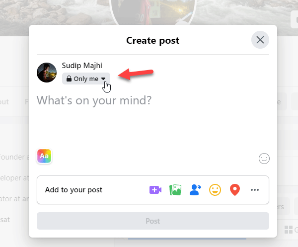 How to share Facebook Posts to Specific people only?