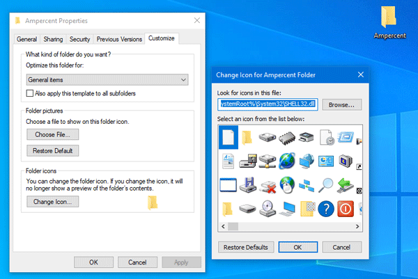 How to change any folder icon on Windows 10