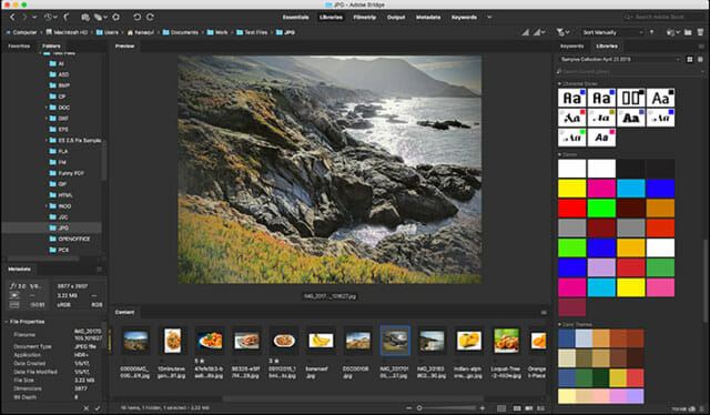 Adobe Bridge CC Best Photo Viewer and Management Apps for Mac
