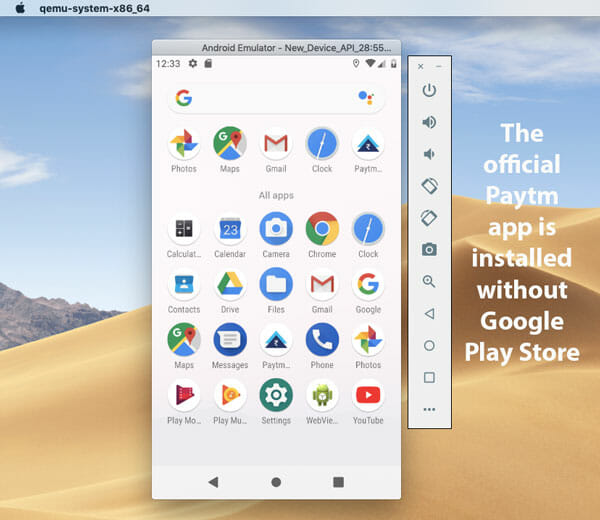 Sideload Third Party APK Files in Android Virtual Device