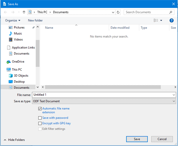 Password Protect Documents In LibreOffice