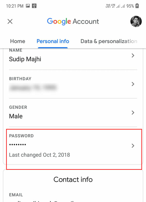 How To Change Gmail Password From Mobile App