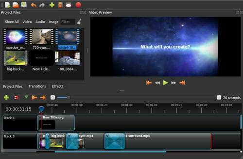 OpenShot video editor Best GoPro Editing Software To Edit Footages On Windows And Mac