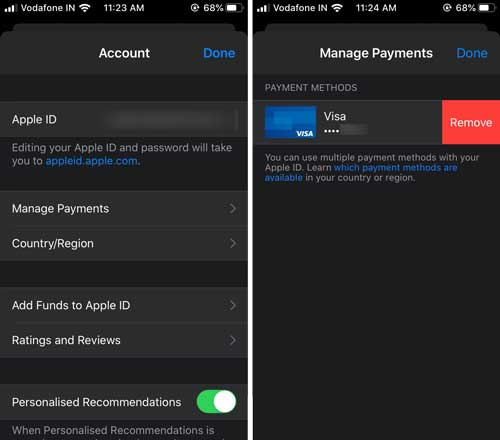 How To Change Or Remove Credit Card From iTunes From iPhone