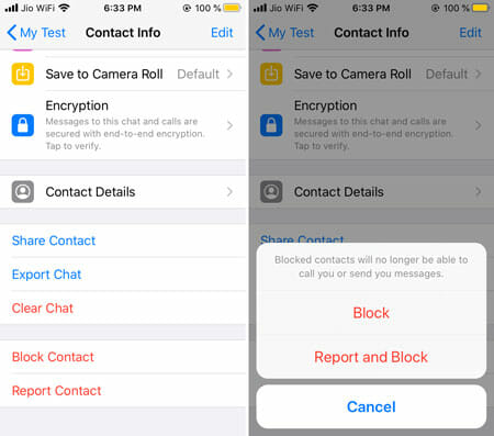 How To Block Someone On WhatsApp For iOS