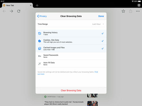How To Reset Google Chrome On iOS