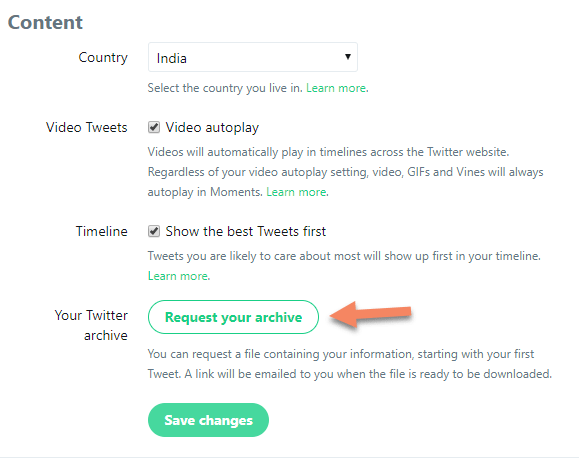 Download profile data from Twitter