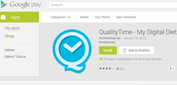 QualityTime Google PlayStore