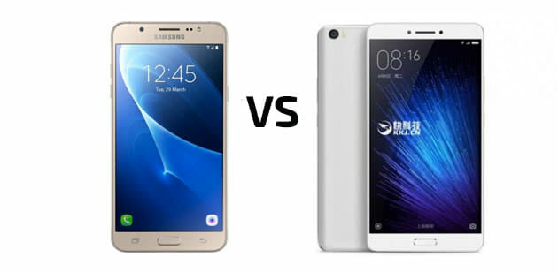Samsung Galaxy J Max vs Xiaomi Mi Max Comparison