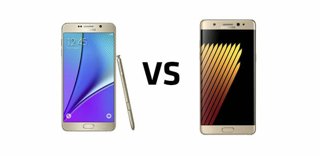 Samsung Galaxy Note5 vs Note7
