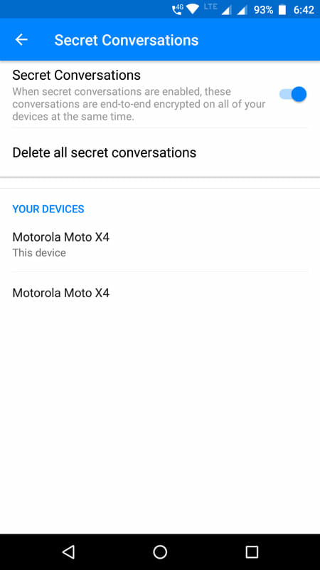 Delete All Secret Conversations