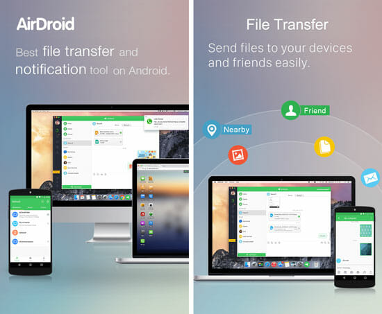 AirDroid Best File Transfer Apps for Android and iOS