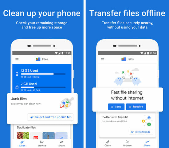 Files by Google Best File Transfer Apps for Android and iOS