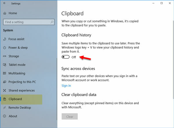 How to Enable and Use Clipboard History on Windows 10