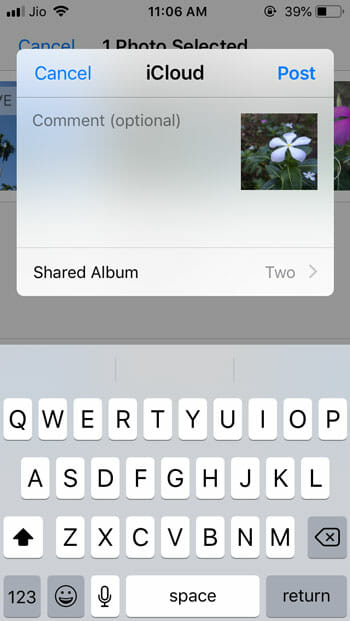 Set up and start using Shared Album in iOS