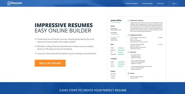 Best Websites to Create Resume Online