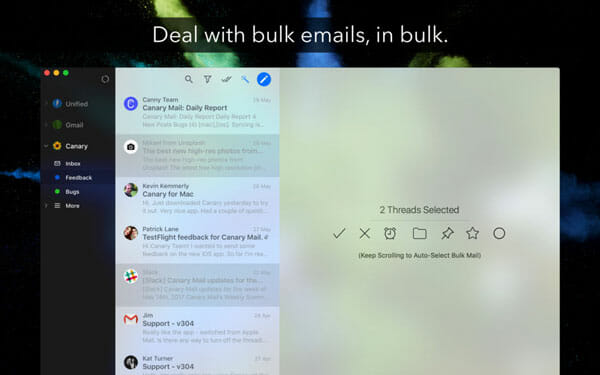 Canary Mail Best Email Clients for Mac