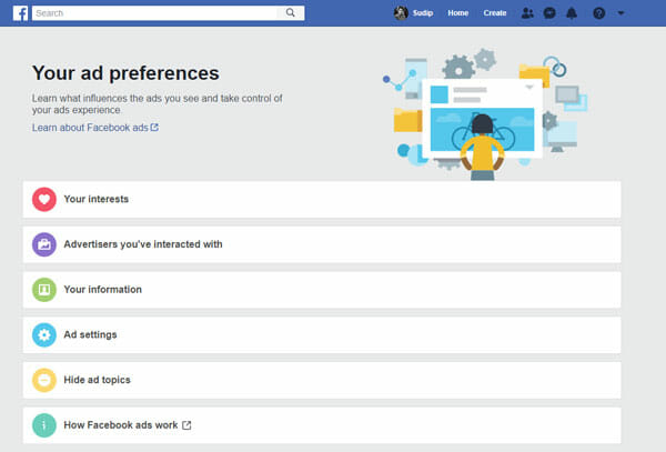 Facebook Advertisement Settings