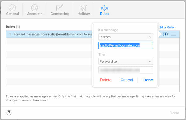 How To Setup And Use iCloud Email Forwarding For Specific Sender