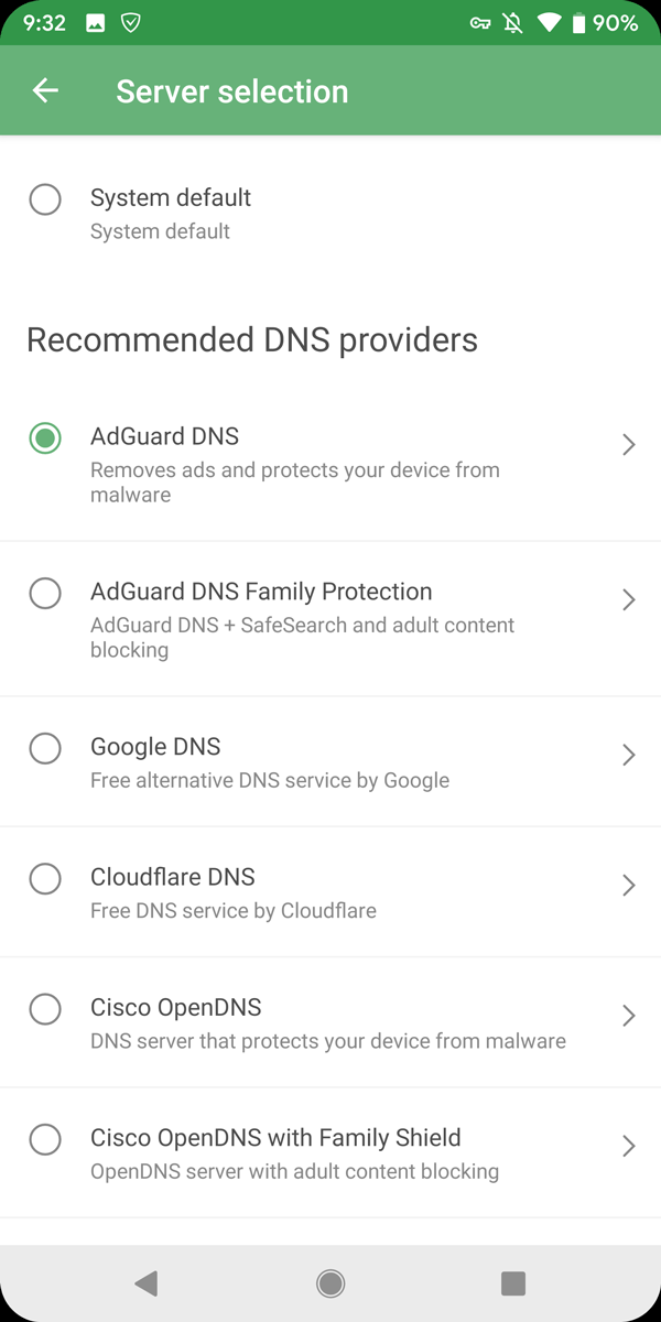 AdGuard 3.0 For Android Change DNS