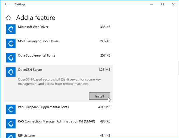 How To Install OpenSSH Client And Server In Windows 10