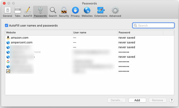 How To Manage Saved Passwords In Safari