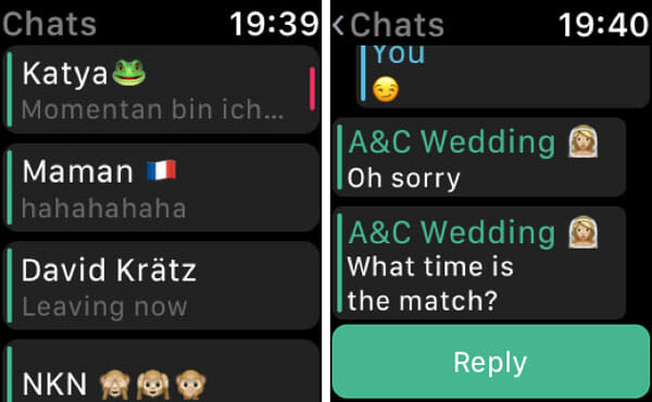 IM+ Watch Use WhatsApp On Apple Watch