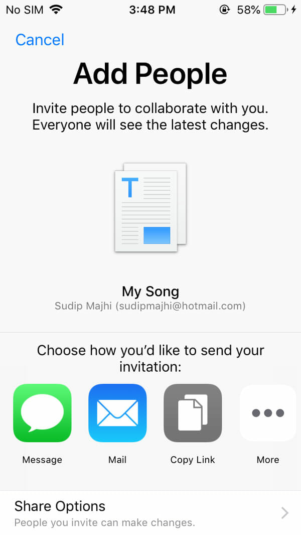 How To Get Direct Link Of Any iCloud File From iOS