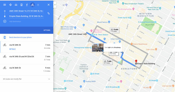 How To Use Google Maps For Cycling Direction