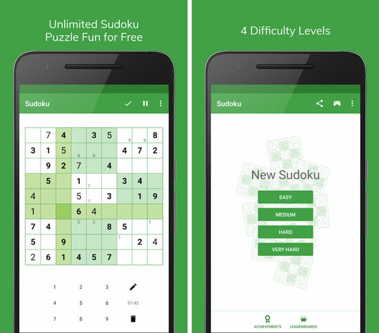 Sudoku Best Android Games That Don't Require Internet
