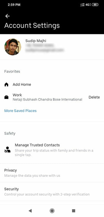 How To Delete Saved Location in Uber