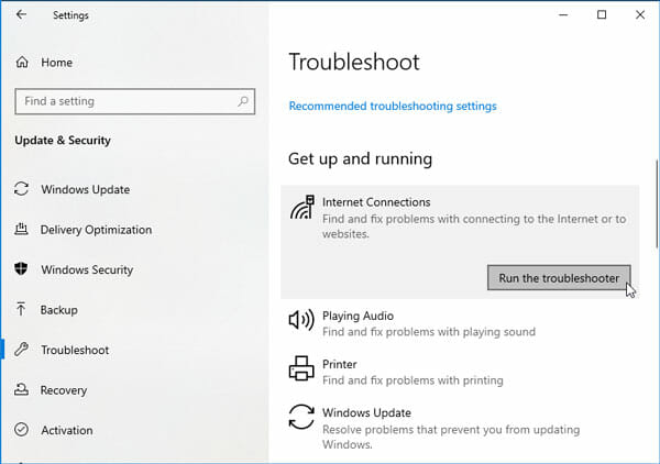 Network Troubleshooter Tips And Trick For Windows 10