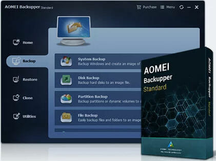 AOMEI Backupper Standard Best backup software for Windows