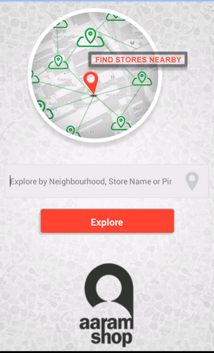 AaramShop Locate Nearby Stores