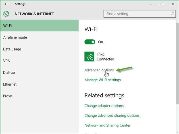 Advanced WiFi Settings
