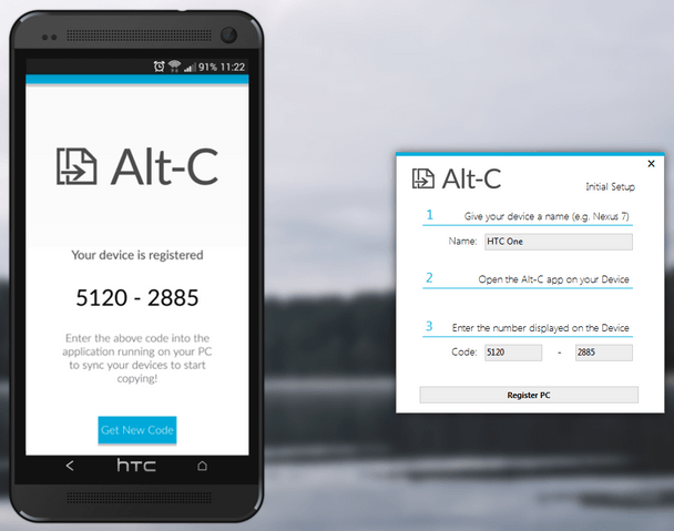 AltC App Sync Android Phone and PC