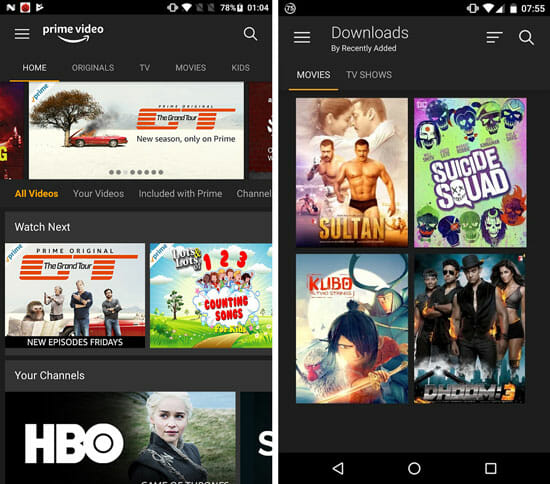 Amazon Prime Best Android Apps to Watch Movies and TV Shows