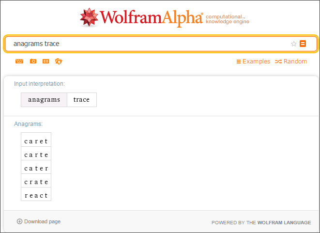 Anagrams_wolfrm alpha